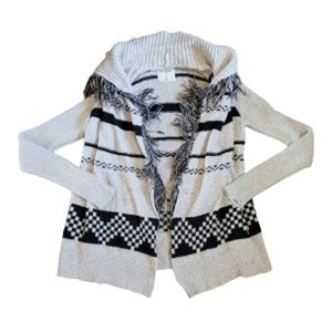 Girls Abercrombie Knit Long Sleeve Cardigan